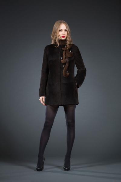 Пандора куртка нутрия 80см арт № 800-5401, шуба из нутрии