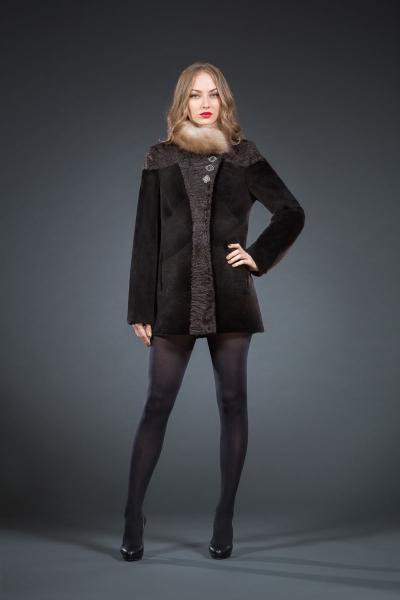 Палада нутрия куртка, воротник кушница 70см арт № 800-6401, шуба из нутрии