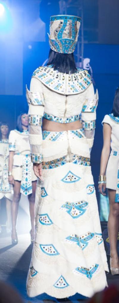 Платье Нефертари из меха каракуль + нутрия арт - Vip12