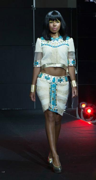 Платье Нефтут из меха каракуль + нутрия арт - Vip2
