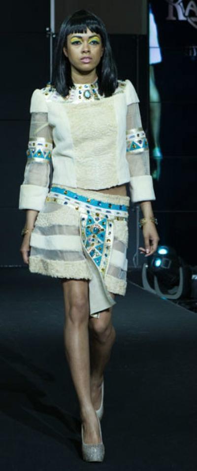 Платье Анксунамун из меха каракуль + нутрия арт - Vip5