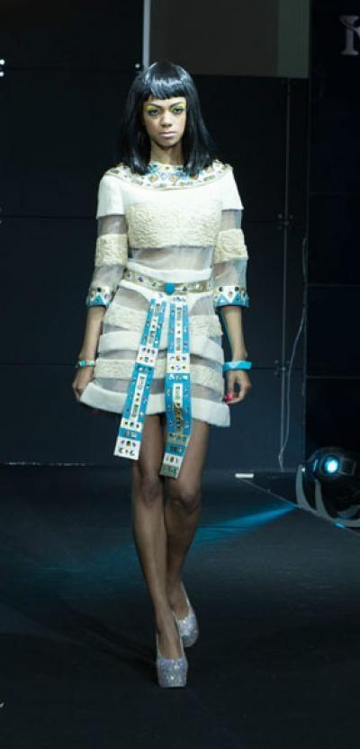 Платье Нефрида из меха каракуль + нутрия - Vip10
