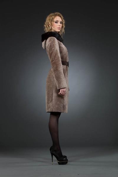 Жозефина 100 см френч, кап. норка арт № 501 шуба из астрагана