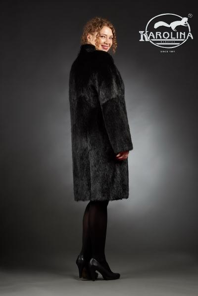 Шуба из нутрии ворсовой пальто с воротником № 800 Н-817 В
