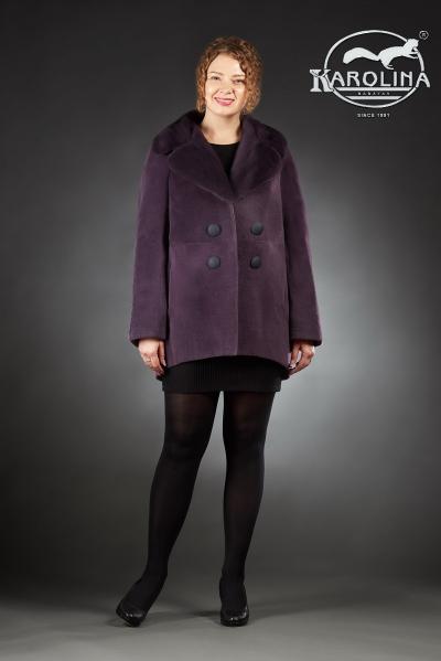 Шуба из нутрии куртка с английским воротником из норки № 800 Н-1011 В