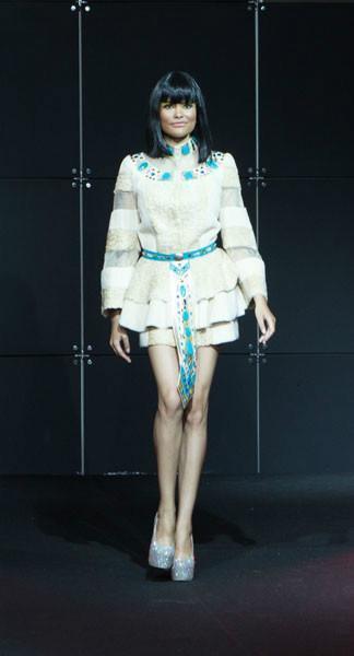 Платье Клеопатра из меха каракуль + нутрия арт - Vip1