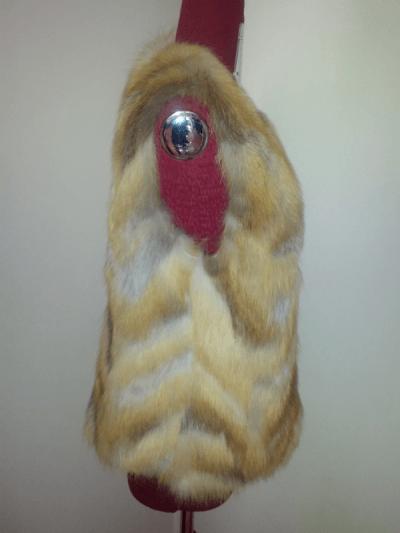 Лючия жилет куски, лиса рыжая арт № 700 дл. 60
