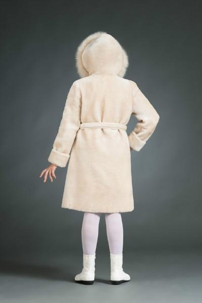 Анюта, детская шубка из мутона, арт. № 500-8220