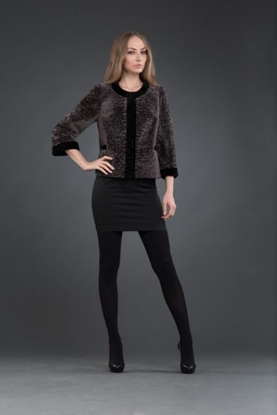М-186 Шанель 55 см куртка из меха  арт № 501-6102 шуба из астрагана
