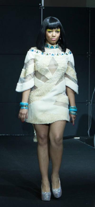 Платье Нуанет из меха каракуль + нутрия арт - Vip6
