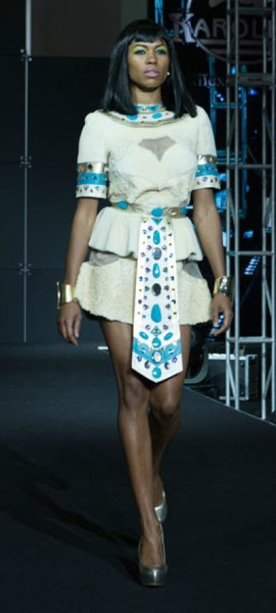 Платье Исида из меха каракуль + нутрия арт - Vip7