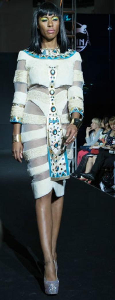 Платье Нефертум из меха каракуль + нутрия - Vip9