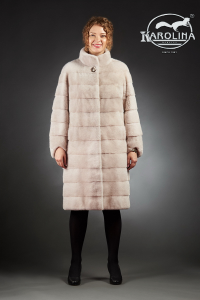 Шуба из норки пальто с воротником № НК-372 В