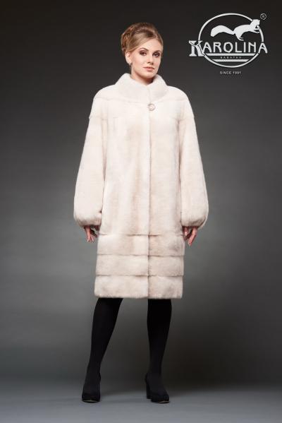 Шуба из норки пальто с воротником № НК-380