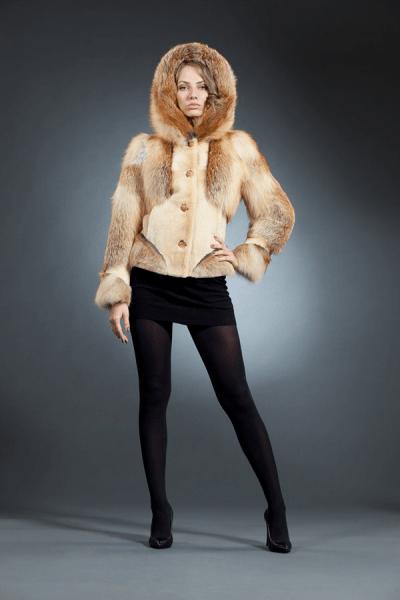 Эрика куртка лиса капюшон арт № 300-301 шуба из лисы